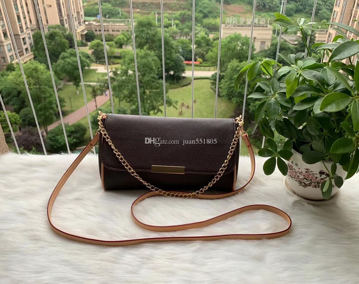 PU الجلود ريال 40718 الفاخرة المفضلة حقيبة يد الموضة حقيبة CROSSBODY النساء المفضلة لديك سلسلة تصميم حزام من الجلد مخلب