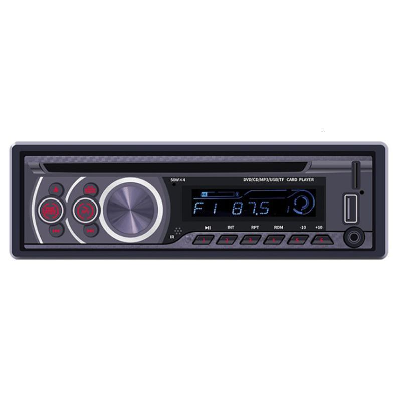 1 Pcs Car DVD 1 Din Detachable Panel Radio Bluetooth FM Receiver CD VCD MP3 SD USB 12V In-dash Car Multimedia Player Free Ship