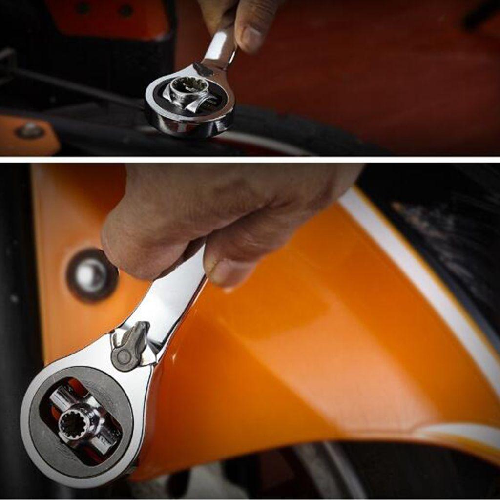 Portátil Mini 6-14mm double-ended Ratchet Wrench Rod