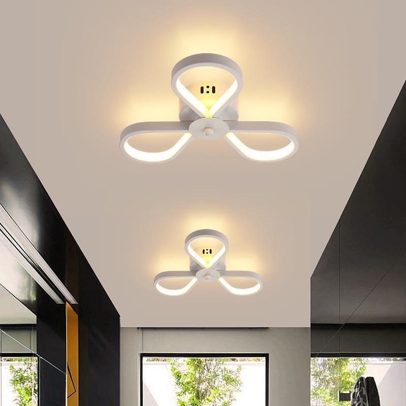 현대 부엌 천장 조명기구 장식 Plafonnier 화이트 블랙 크리 에이 티브 꽃 매달려 주도 천장 램프 침실 복도