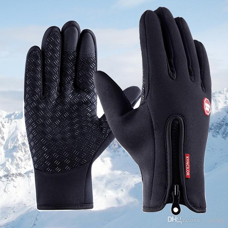 Mens Winter Warm Windproof Waterproof Anti-slip Thermal Touch Screen Gloves UK