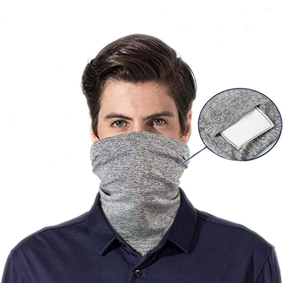 2020 Новый 1 шеи гетры с 1 шт. фильтры моющиеся лицо шарф дышащая Крышка для слюны и пыли защита на открытом воздухе спорт для мужчин