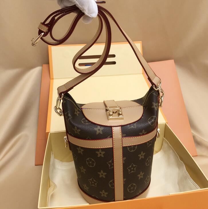 Самая горячая марка женская сумка ведро дизайнер пряжки печать ретро плечо диагональ сумка мода высокое качество сумки бесплатная доставка