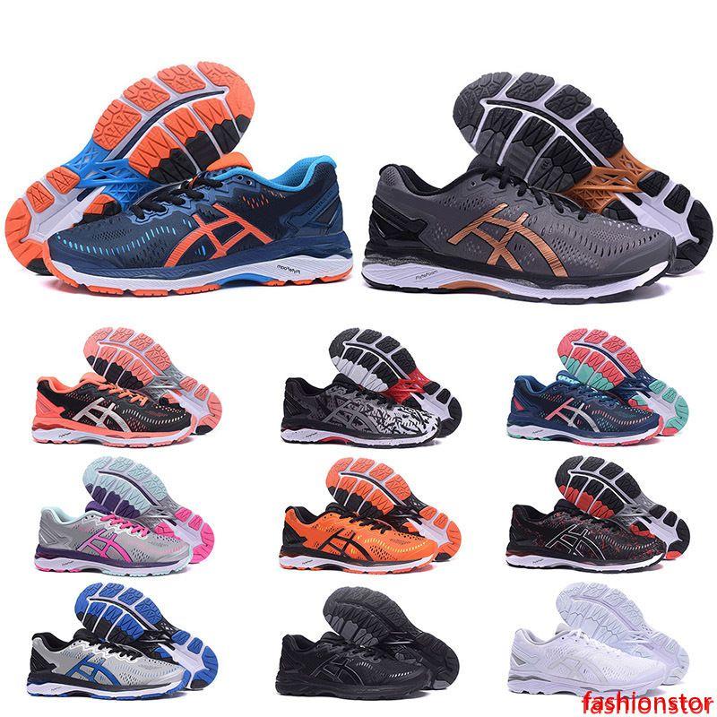 Üst Kalite GEL-KAYANO 23 T646N Erkek Kadın Ayakkabı Kahverengi Mavi Üçlü Siyah Beyaz Turuncu Pembe Erkek Ayakkabıları Kadınlar Tasarımcı Sneakers 36-45 Koşu
