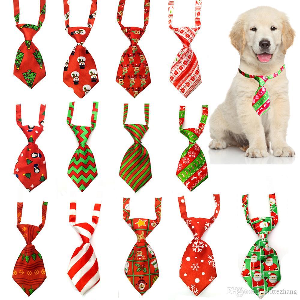 Toilettage de chiens Chat rayé Noeud papillon rayé animal Bowtie col de Noël pour animaux réglable cravate pour partie de festival de mariage