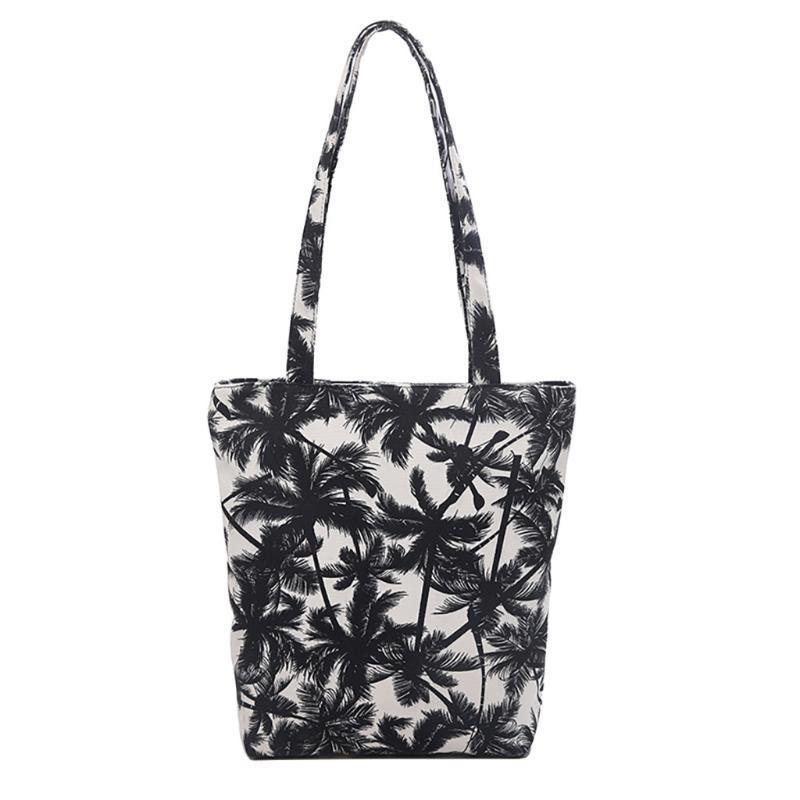 Canvas mensageiro Impressão Leopard Mensageiro bolsa de mão bolsa de compras Ladies Shoulder Bolsas Casual Feminino
