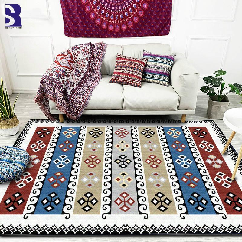 SunnyRain Alfombra de 1 pieza para sala de estar Alfombra para alfombras de gran tamaño para dormitorios Resistencia al deslizamiento