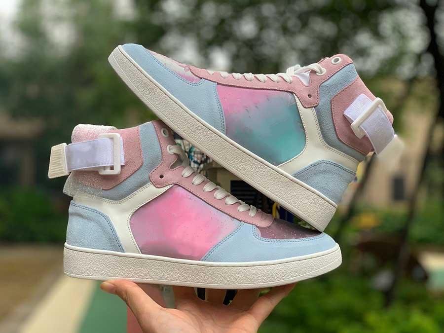 2019 مصمم الأزياء الفاخرة النساء الأحذية في الهواء الطلق للرجال المتسكعون الرجال أحذية رياضية منصة ثوب قماش حذاء الجري المدربين المتسكعون حجم 5-11