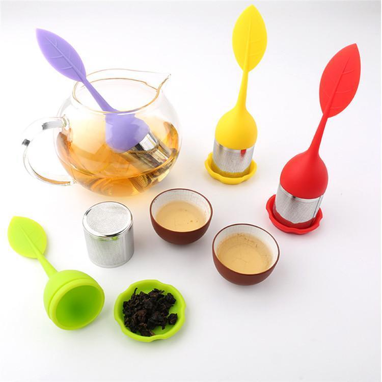 Кремний чай infuser силикона Инфюзр листовой с пищевой сделать чай рукавного фильтра творческому нержавеющей стали ситечко Бесплатная доставка DHL