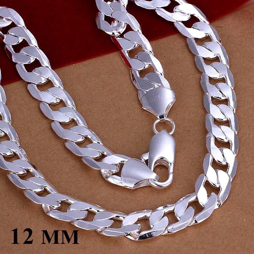 Großhandel 12MM Breite Silber Männer Schmuck Mode für Männer Kette Kandare Halskette neuen Gerten Schmuck figaro Stil Halskette KASANIER