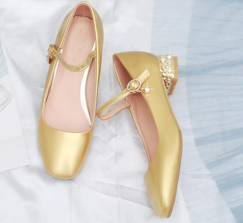 2020 весна и осень с новым стилем мода Женская обувь средний каблук грубый каблук круглая голова обувь каблук 3 см, 5 см @MQWBH376