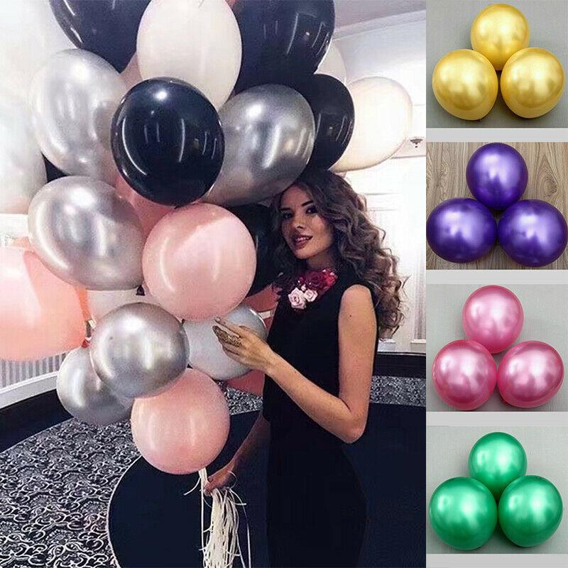 "300PCS 12"" Metallic Latex Bachelorette Balloons Confetti Chrome Bouquet Multicolor Helium Pearl Wedding Birthday Party Baby Shower Decor"