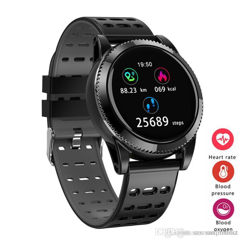 M11 Smart Watch Männer 1,3-Zoll-Bildschirm Smartwatch Atem Lampe Musik HR Blutdruck Sauerstoff Multi-Sport für iOS Android