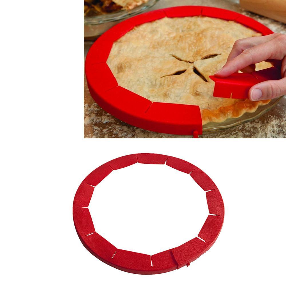 Einstellbare Silikon Pie Crust Schild Silikon Fit 8.5inch - 11.5Inch Rimmed Dish