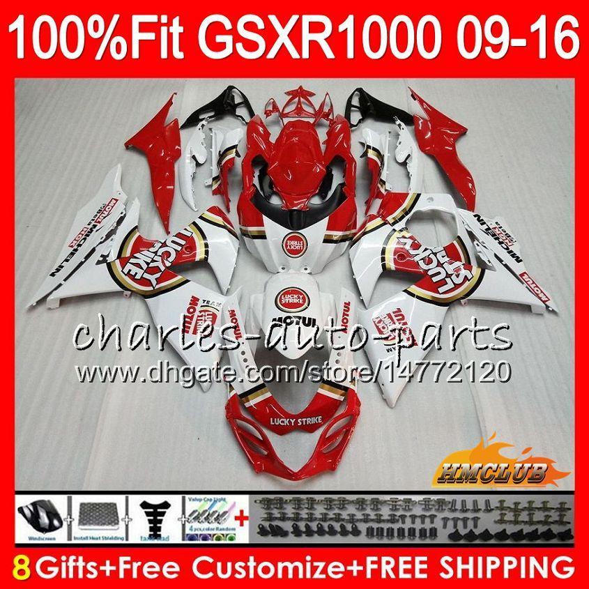 Inyección para SUZUKI GSXR1000 Lucky Strike 2009 2010 2011 2012 2014 2016 2016 16HC.13 GSXR-1000 K9 GSXR 1000 09 10 11 12 13 15 16 Carenado