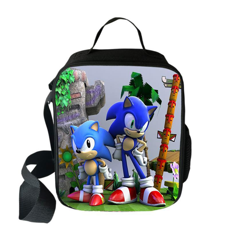 Mario Bros Sonic Cooler Lunch Bag Cartoon Girls Portable Thermal Picnic Bags For School Kids Boys Lunch Box Tote Tintamar Travel Bags For Women From Vanilla13 13 37 Dhgate Com