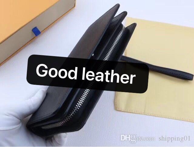 상자 가방 동전 지갑 구획 지퍼 가죽 디자이너 표준 지갑 패션 가죽 긴 지갑 지갑