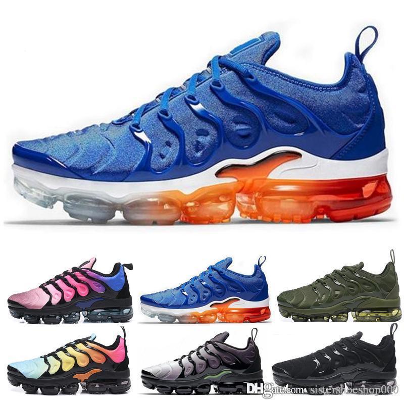 Erkekler Kadınlar Için TN Artı Koşu Ayakkabıları Kraliyet Smokey Leylak Dize Colorways Zeytin Metalik Tasarımcı Üçlü Beyaz Siyah Eğitmen Spor Sneakers