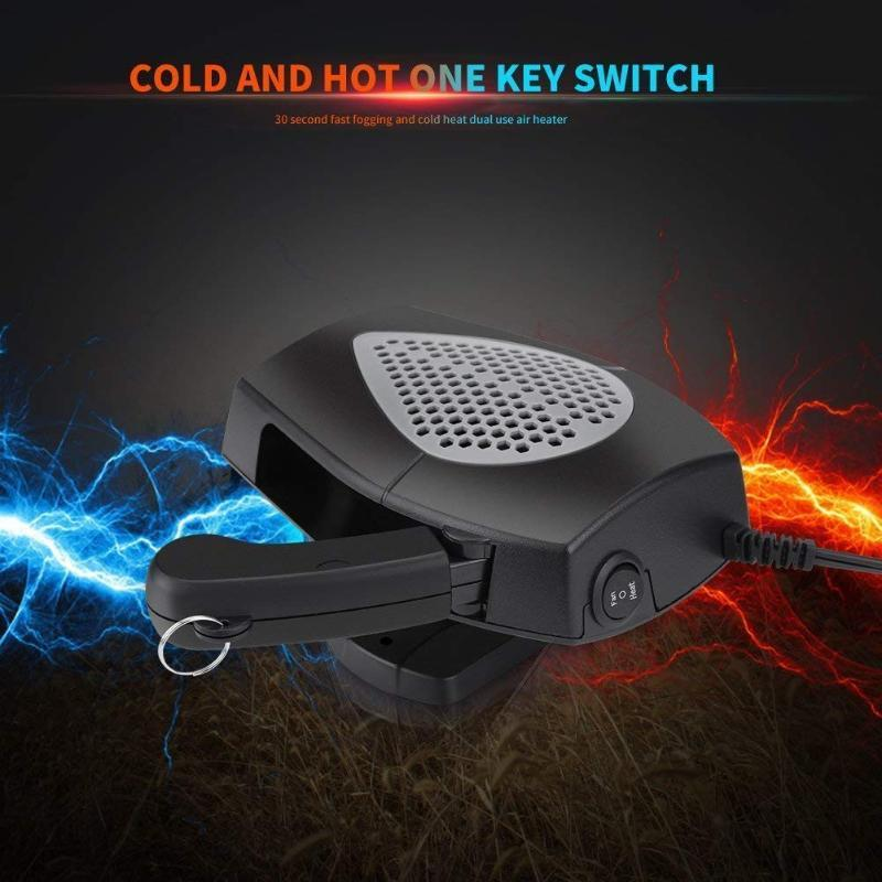 Car Heater Portable Car Heater Auto Cooling Fan 3-Outlet Defrosts Defogger 12V 150W Warm electric windshield 1205