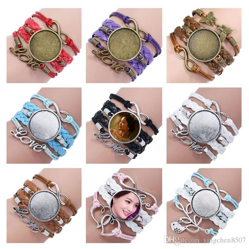 Pulseras de sublimación en blanco para las mujeres impresión de transferencia de calor Mujeres de varios pisos pulsera joyería en blanco joyas personalizadas