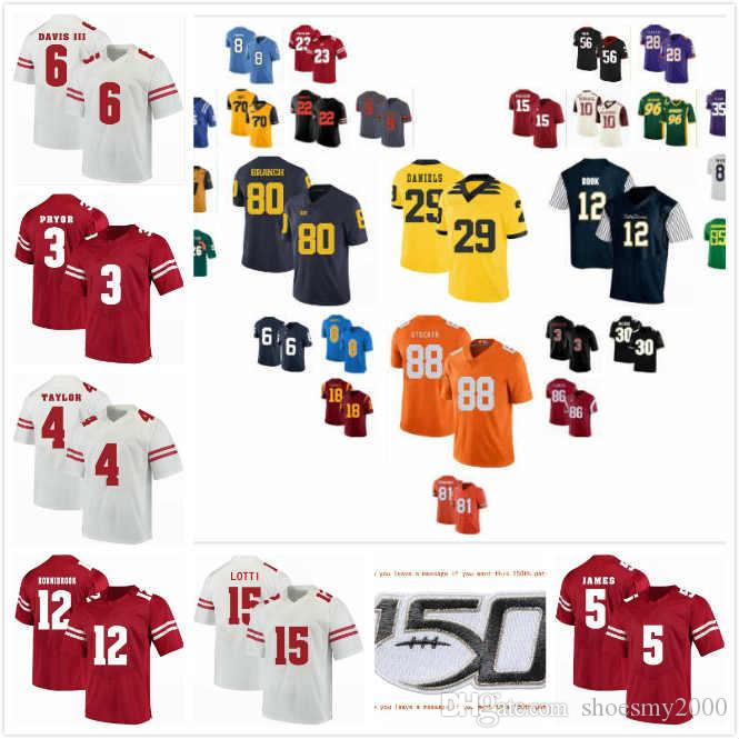 Custom Wisconsin Badgers Faion Hicks Jersey 1 Chase Wolf 2 Kendric Pryor 3 A.J. Taylor 4 Jack Dunn 16 Graham Mertz 5 Stitched S-3XL