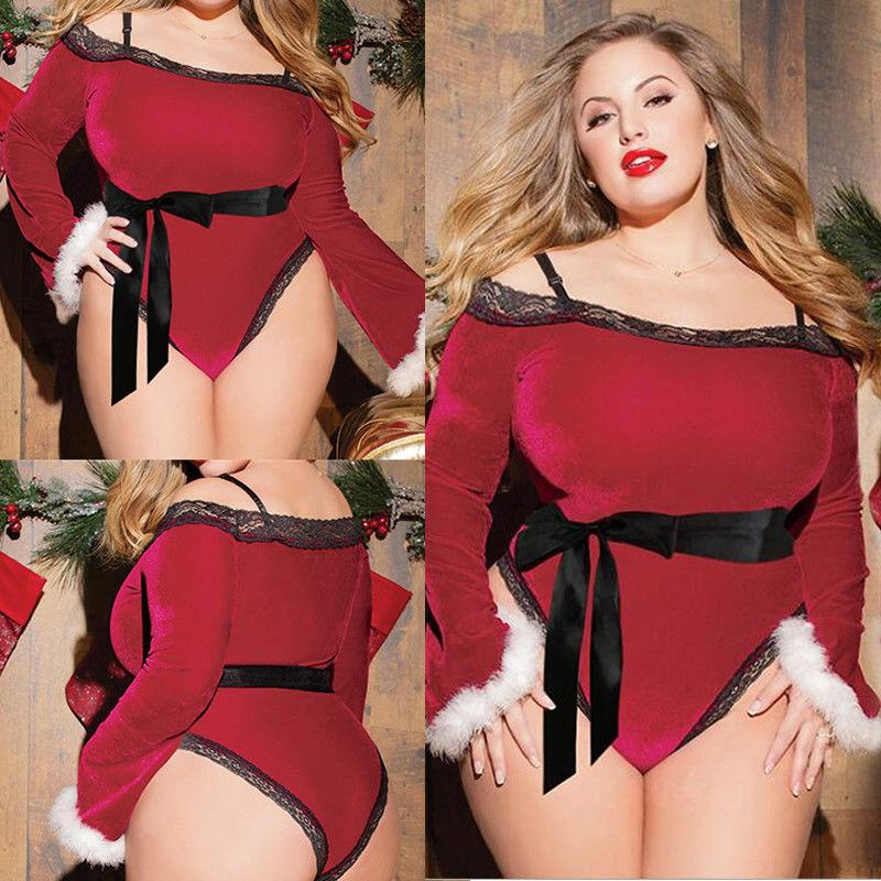 Sexy Women's Santa Claus Lady Costume Christmas Fancy Suit Party Outfit Clothes #R45