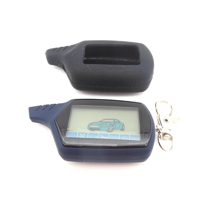 2-way LCD Remote Control Key Fob, A91 Silicone Key Case For Russian Car Anti-theft Two Way Car Alarm System Starline A91