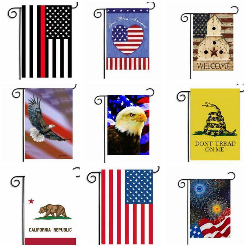 Bandeiras Jardim BlueLine USA Flags Bandeira Polícia América Bandeiras decoração do partido fina linha azul da bandeira dos EUA DIY Quintal Hanging Bandeira DYP87 portátil
