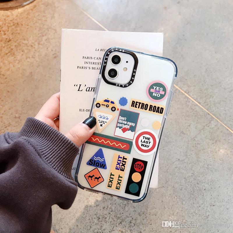 Роскошная Мультфильм мило Улица Сезам телефон чехол для iPhone 12 11 про макс XR XS MAX крышка для iPhone 8 7 6S 6Plus прозрачный TPU CA