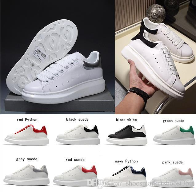 2020 Mens Womens Fashion Luxury Classic Shoes Leather Platform Sneaker Flat Lightweight Comfort Casual Dress Skateboarding Shoes Sneakers
