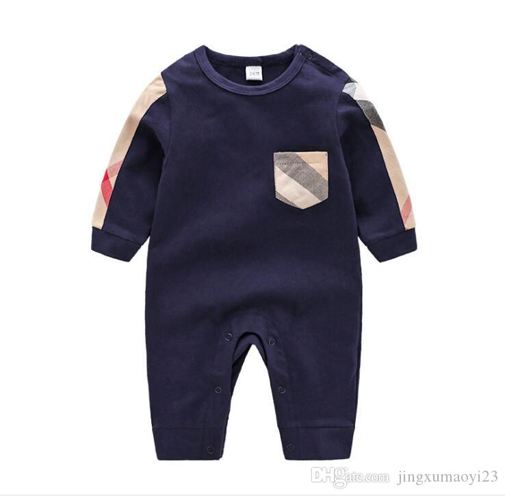 free shipping 0-24M Cartoon Baby Romper Spirng Autumn Long Sleeve Baby Boy Girl Romper Infant Warm Jumpsuit Kids Cotton baby Clothes AAAA026