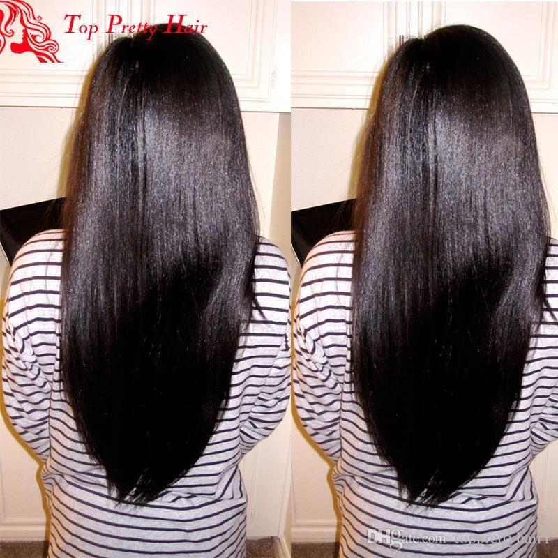 Siyah Kadınlar Için dantel Ön Yaki İnsan Saç Peruk İşlenmemiş Brezilyalı peruk Tutkalsız Işık Yaki Düz Tam Dantel Ön Ucuz İnsan Saç Peruk