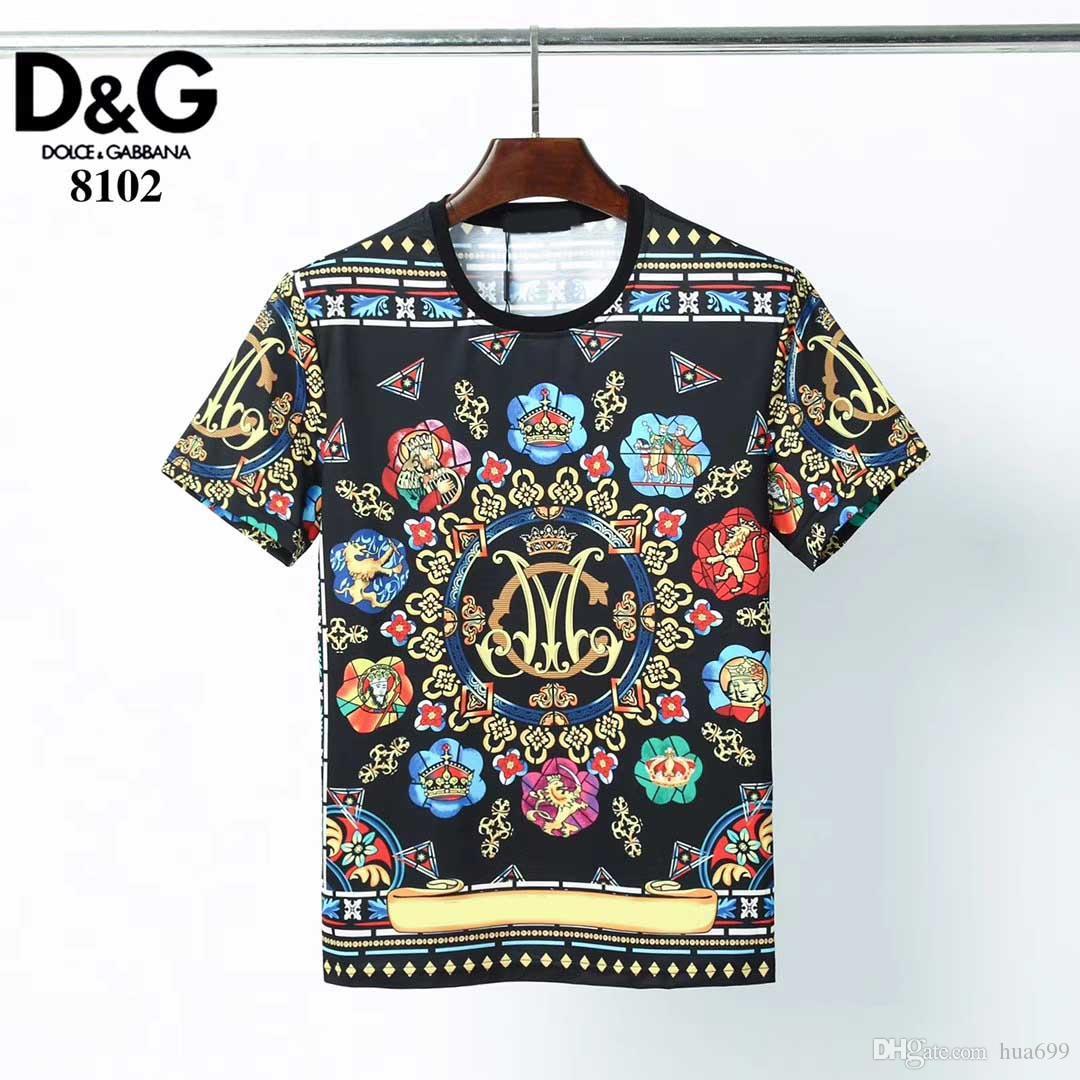 2020 nouvelles top figure géométrique d'été luxe T-shirt des hommes T-shirt rue principale mince nouveauté T-shirt à manches courtes hommes