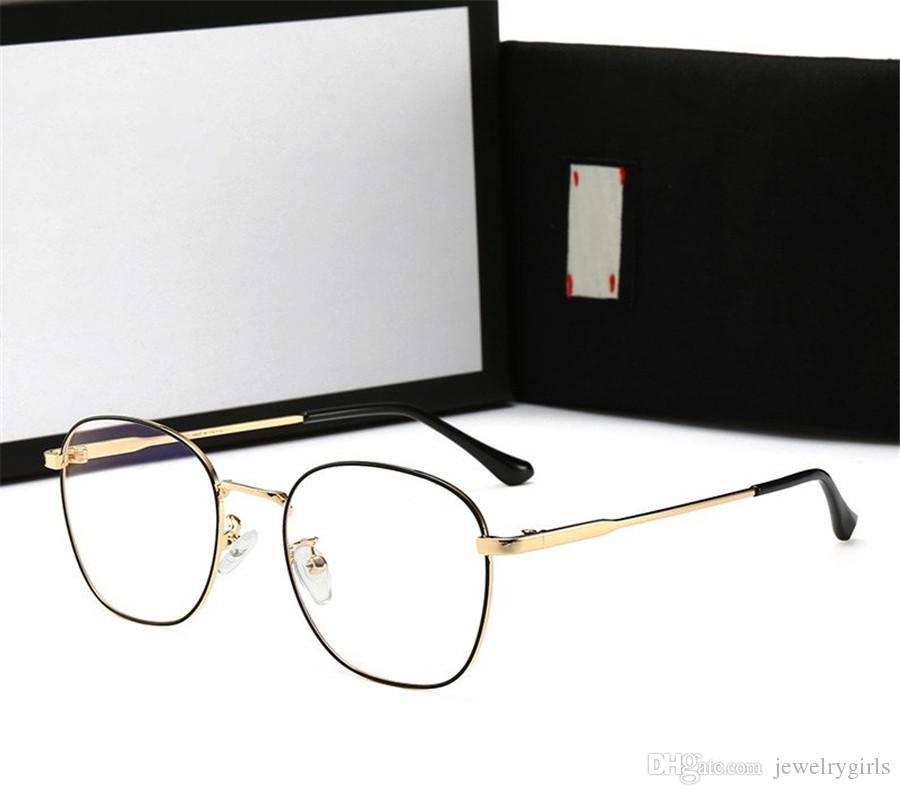 Box ile Man Kadın Düz Anti Mavi Işık Cam Yüksek Kalite Erkek Kadın Miyop Gözlük Adumbral Güneş gözlüğü