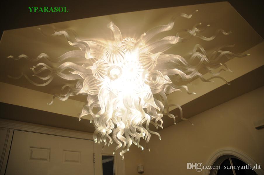 Cancellare soffiato LED Vetro lampadario luce Top Custom Design fatto in casa Murano marocchina moderna illuminazione