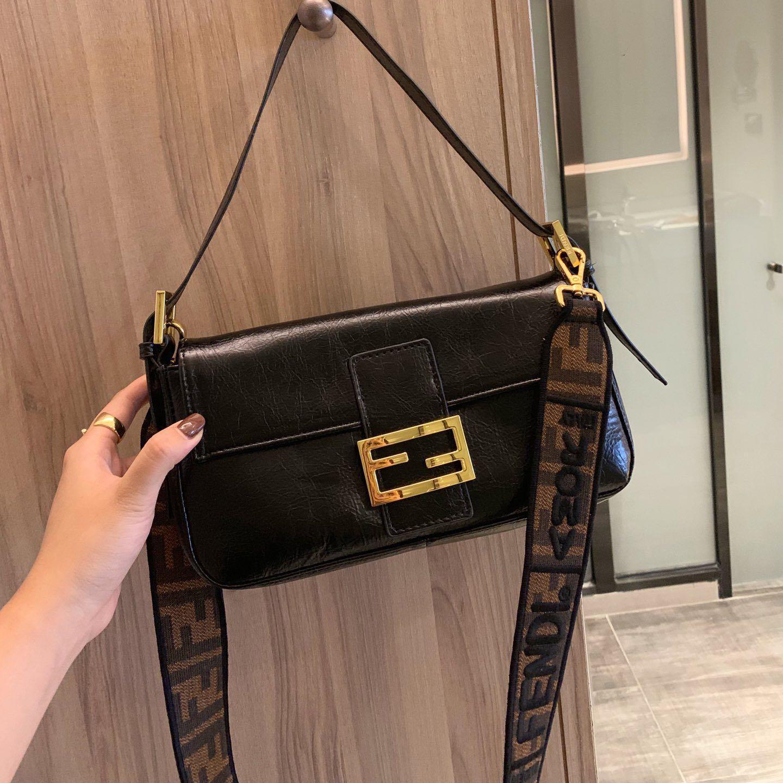 Diseñador de los bolsos de hombro clásico de moda de lujo bolsos de mujer de marca mensaje Bolsa Retro paquete de Fanny del bolso de Crossbody B102726K
