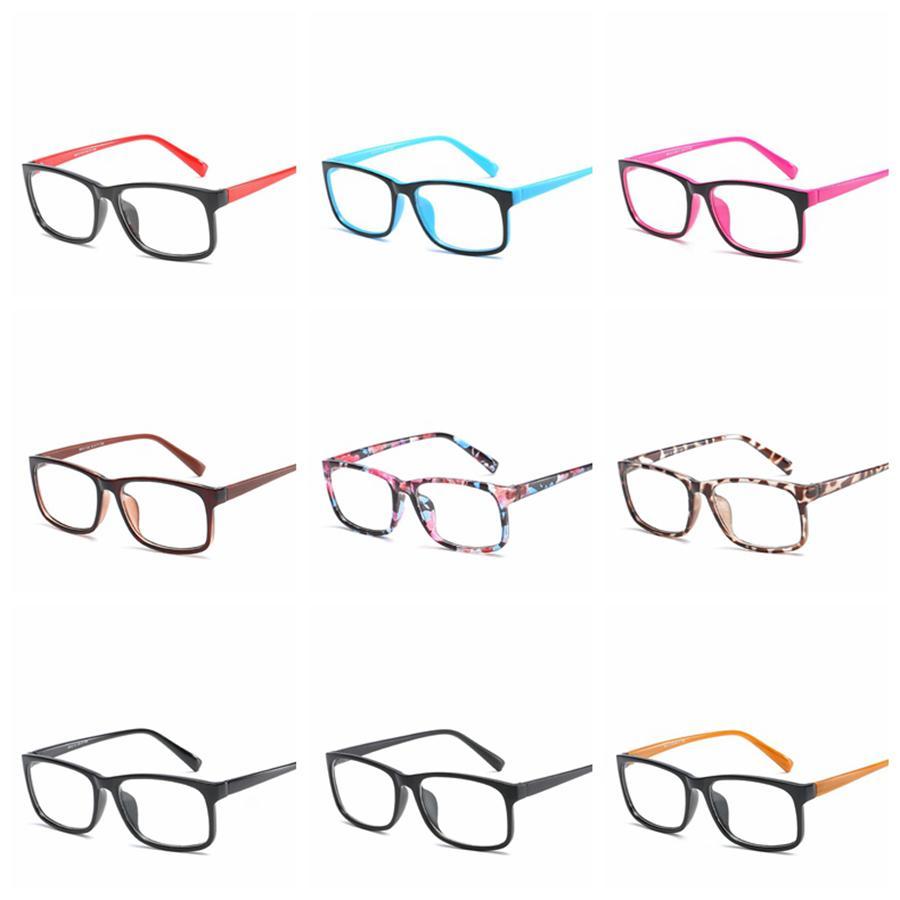 패션 안티 - 블루 보호 안경 컴퓨터 눈 안경 프레임 여성 남성 레트로 평면 거울 안경 프레임 광학 안경 RRA1144