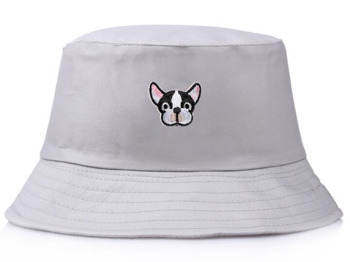 Самые продаваемые женские кепки милая собака вышитые ведро шляпы хлопок открытый уличная мода женщина gorras