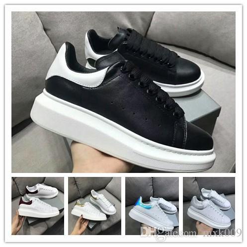 2019 das mulheres dos homens Chaussures Velvet Sapato preto bonito Platform r7 Casual Sneakers Designers Luxo Sapatos de couro Cores sólidas Sapato