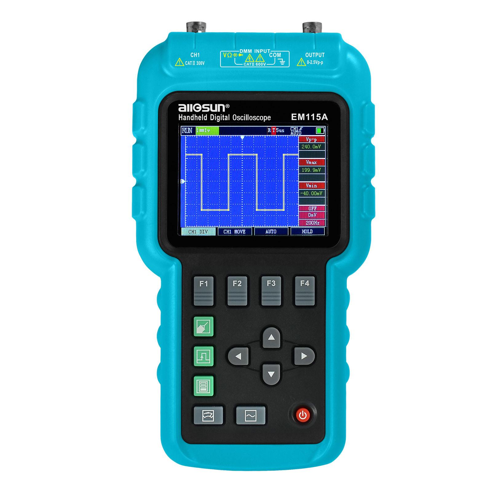 디지털 휴대용 대해서는 ScopeMeter 멀티 미터 휴대용 오실로스코프 50MHz의 싱글 채널 LED 백라이트 200MSa / s의 모든-일 모델 EM115A