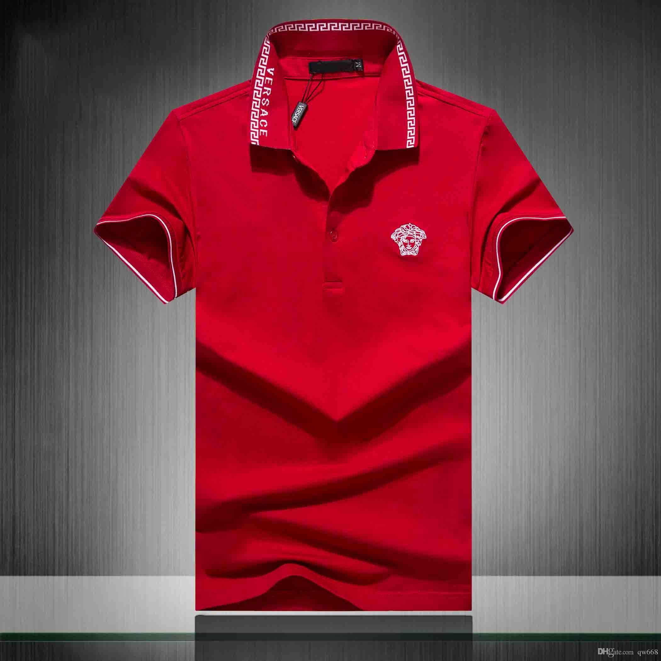 Mode für Männer T-Shirts die Designer-Polohemden mich neuen Männer mit kurzen Ärmeln haben ein rotes und viele andere produ Größe M-3XL