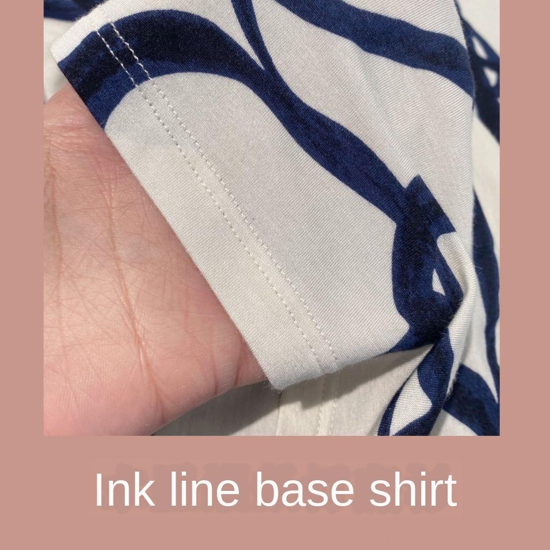 camisa base de camisa base de manga de Q0520 linha tinta longo de mangas compridas manga Q0520 linha tinta longo de mangas compridas