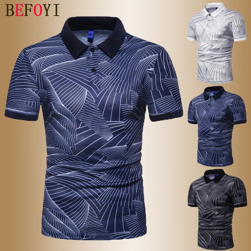 Men's Short Sleeve Shirt Summer Casual Sea Print Polos Man Collar Golf Tshirt Sweater Tops 2020 Clothing Polosshirt