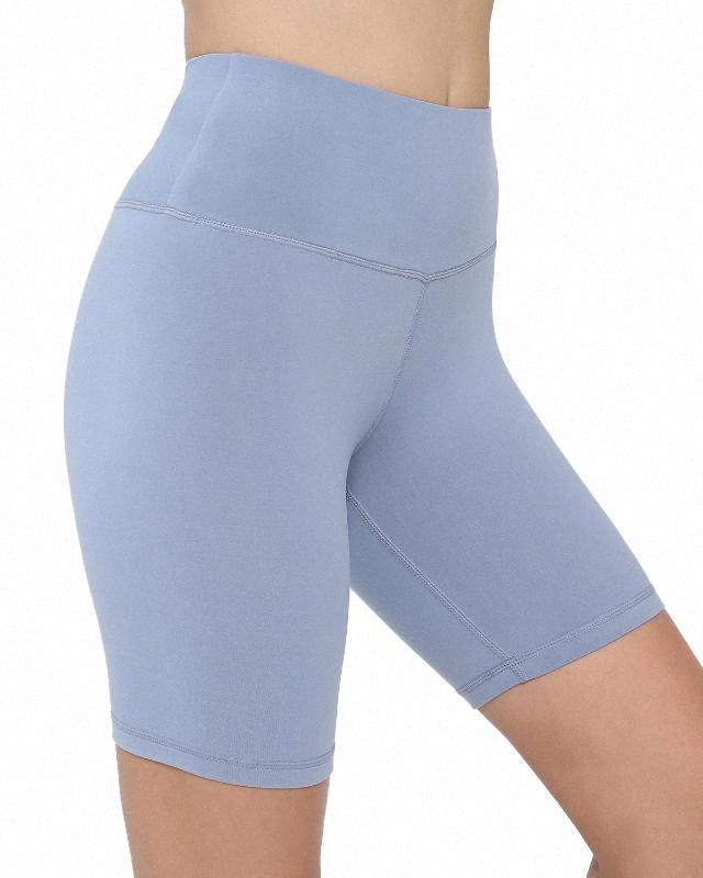 SVOKOR sin fisuras del motorista mujeres de los cortocircuitos empuje sólido Hasta pantalón corto deportivo de cintura alta ropa de entrenamiento corto cómodo Mujer zcHA #