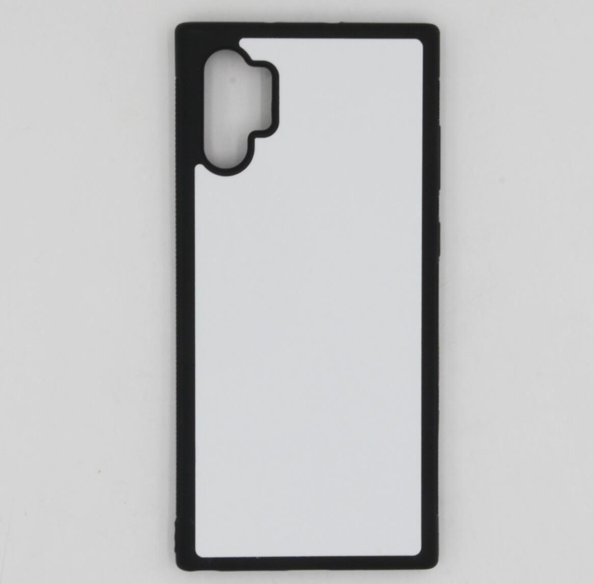 2D Sublimation TPU + pc en caoutchouc Etui de protection pour Samsung Note 10 cas et plus avec des plaques et 100pcs colle