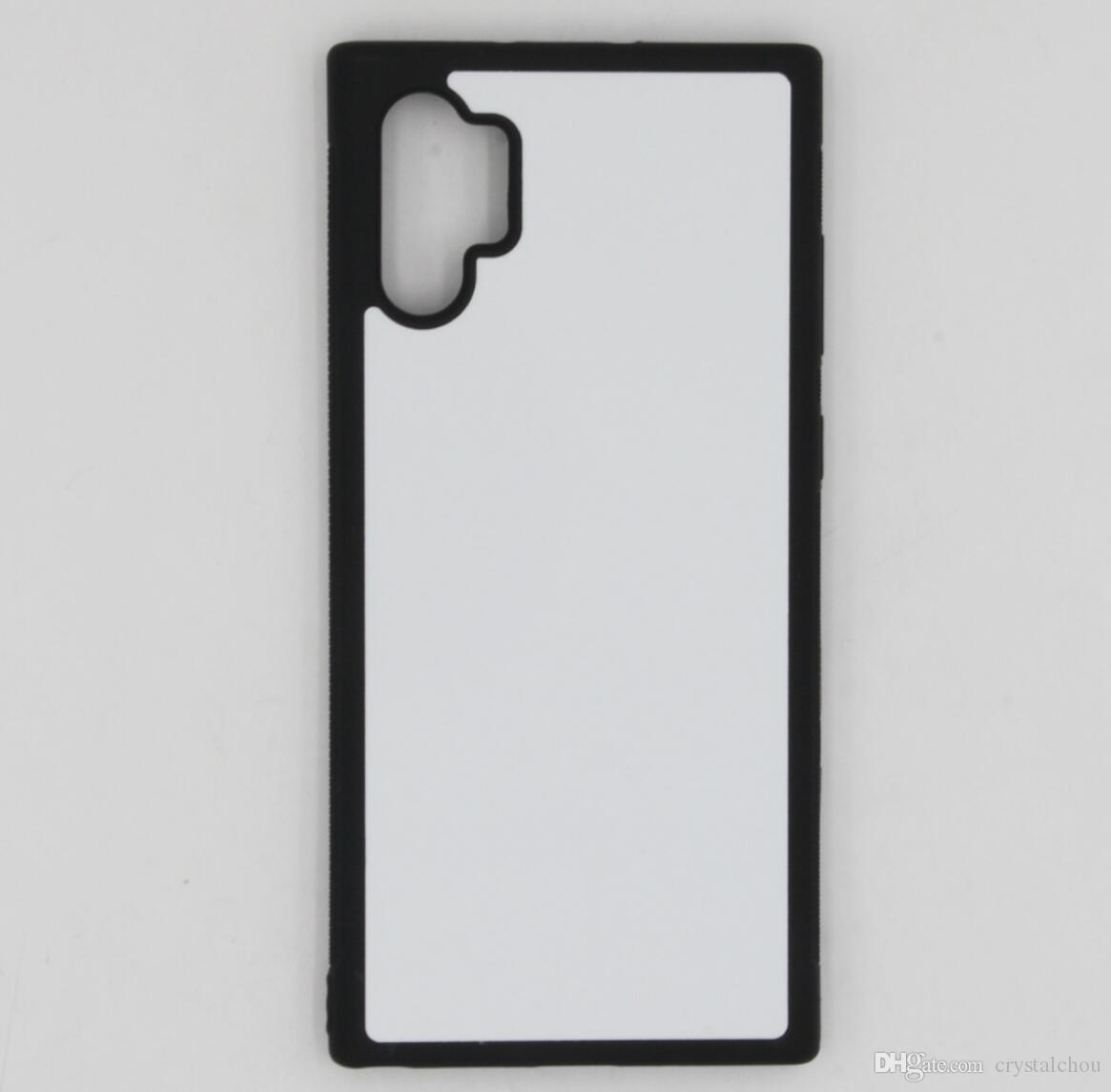 2D Sublimation TPU + pele da tampa do caso pc borracha para Samsung Nota 10 mais casos com placas e 100pcs cola