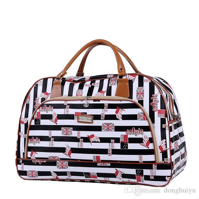 Multi styles Fashion Print Portable Bag Men Women Leather Duffel Bags Handbag Travel Luggage Bags Shoulder Bag Waterproof