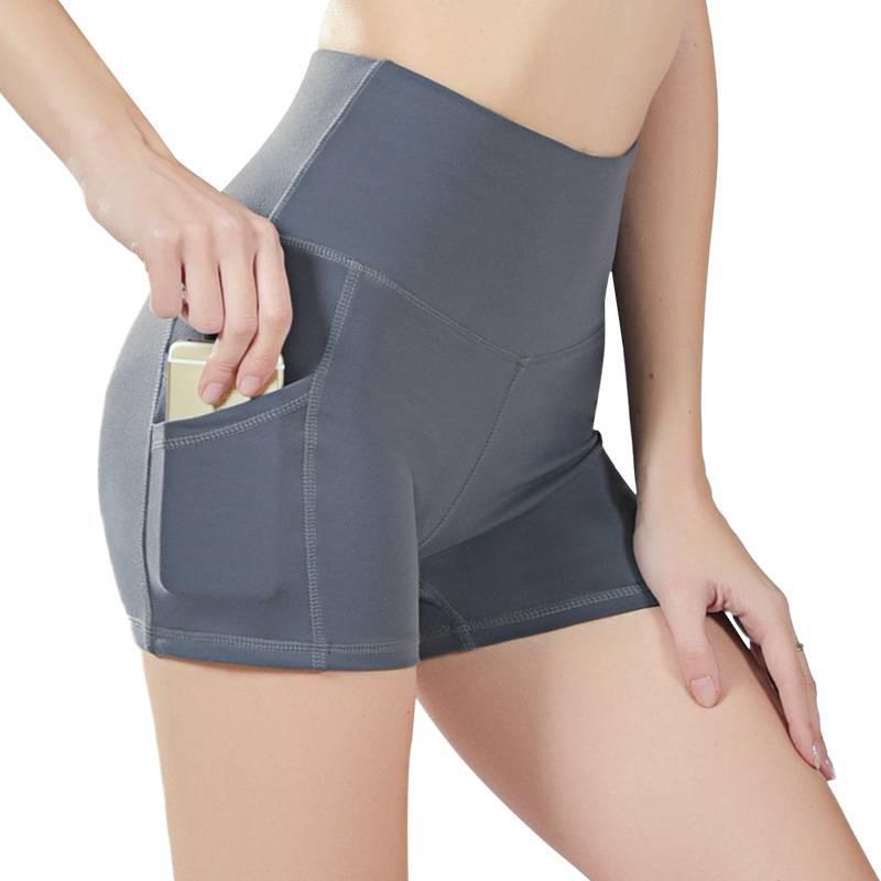 새로운 여자 스포츠 체육관 압축 전화 포켓 착용에서 기본 레이어 여성 짧은 바지 바지를 실행 운동 솔리드 스타킹 요가 반바지