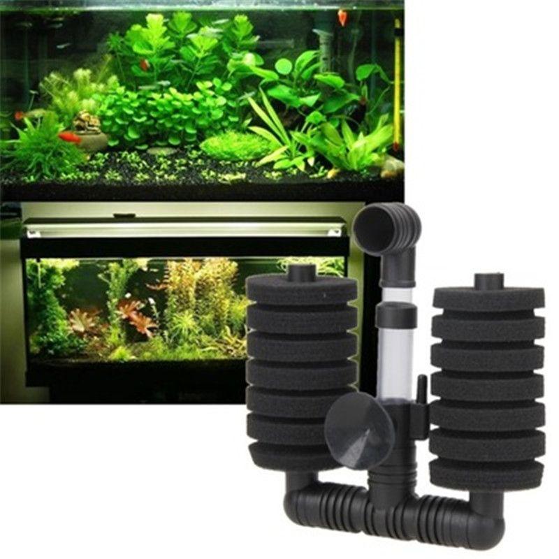 5PCs / Lot di pesci del carro armato a basso rumore di ossigeno spugna angolo filtro aria della pompa Driven Filtro Bio d'angolo