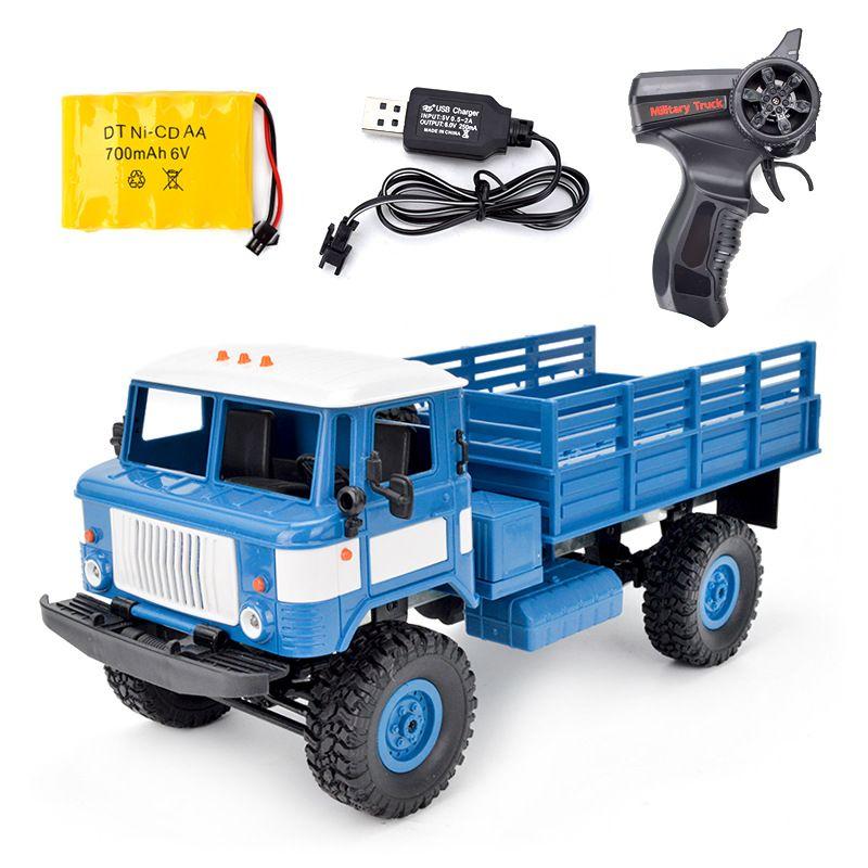 1/16 Romote control 2.4G four-wheel drive climbing GAZ-66V Military rock crawl RC truck model children toy kids boy gift